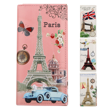 Hot Sell!Eiffel Tower/Big Ben/House printing coin purse,women zero wallet,female clutch change purse,Zipper money/key/phone bags(China)