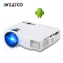 WZATCO CQ5 Android WIFI Home Theater Portable Projector HDMI USB 1080P HD Cinema Mini LCD LED PC Video Beamer 2017 Proyector