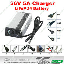 36V 5A LiFePO4 Battery Charger For 12S 3.2V lifepor cell pack ouput 43.8V 5A LiFe Battery Charger