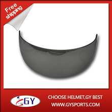 Silver Hockey Visor anti scratch both side safety face guard  Mirror Visor high impact resistant PC Visor