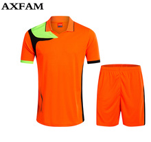 Football jerseys new men training soccer kits customized name number logo soccer jerseys adult soccer jerseys football jeresys(China)