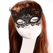 1PC Sexy Mask Black Crown Anonymous Lace Mask Masquerade Mask Venetian Carnival For Women Masquerade Party Dress Costume Hot