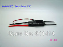 1piece RC ESC 60A(OPTO) Brushless Speed Controller  W/O BEC For RC Aircraft Airplane + Free Shipping High Quality