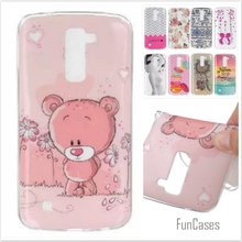 Luxury Silicone Cover For LG K10 LTE K420N K430 K430ds F670 F670L F670S Cute Bear Cartoon Soft TPU Rubber Phone Protective Cases