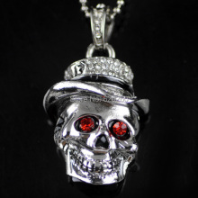 Retail genuine 2GB/4GB/8GB/16GB/32GB ruby pendrive skull head shape Metal pen drive usb flash drive, Free shipping+Drop shipping
