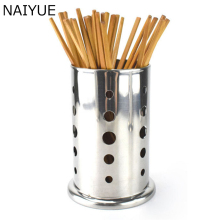 NAIYUE Stainless Kitchen Storage Box Tableware Chopsticks Storage Bins Kitchen Dining Table Organization Holder(China)