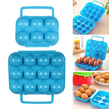 Folding Eggs Box Portable Durable Plastic 6/12 Eggs Container Holder Storage Box Case Kitchen Products