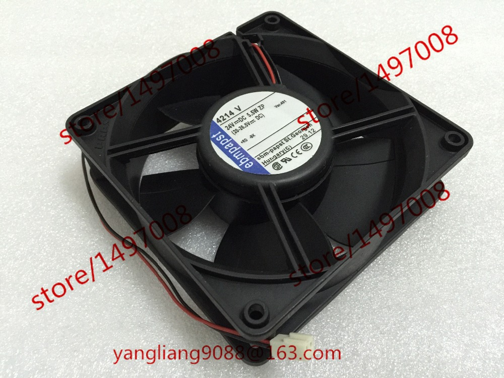 Free Shipping For ebmpapst  MULTIFAN 4214V   DC 24V 5.5W 2-wier 100mm, 120x120x38mm Server Square fan<br>