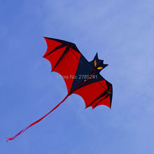 High Quality 190cm Huge Bat Kite red single line 3D Bird Animal Kite for Kids&Adults Beach&Square(China)