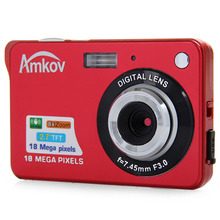 Amkov CDC3 2.7 Inch TFT Screen 18.0MP CMOS 5.0MP Anti-shake Digital Camera with 8X Digital Zoom 1300w Pixel Video Camera(China)