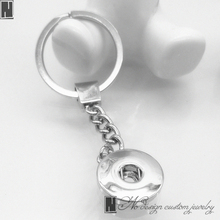 No Design custom jewelry Silver Metal Pendant Purse Bag Car Key Chain Ring fit snap button Charm -New best fashion gifts(China)
