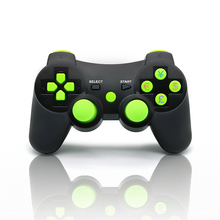 AIBOULLY Hight Quality Solid Colors For PS3 Controller Wireless With Six Axis And Vibration Bluetooth Free Shipping(China)