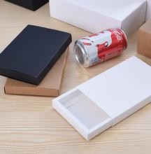 20pcs/lot Big Kraft/White/Black paper Boxes with Cover Xmas/Birthday Gift Candy/Chocolate/Jewellery Packaging Boxes Drawer case