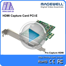 Magewell Pro capture one channel HDMI PCI-E capture card support Windows 7/8/8.1/10, Linux