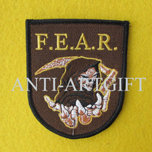 Custom 100% embroidery letter of patches iron on merrow sorcerer high quality OEM/ODM(China)
