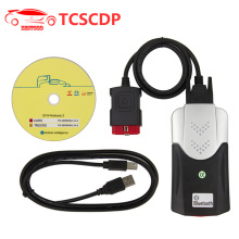 DS TCS CDP PRO Bluetooth OBD2 Diagnostic Scanner with New Relays Green Board 2014 R2 / 2015. R3 Free Activated for Trucks / Cars(China)