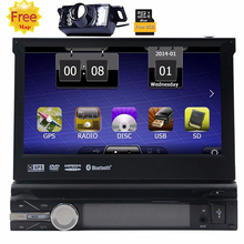 Touch Screen Car Stereo Radio In Dash Single Din GPS Navigation DVD CD Player with Backup Camera Support Bluetooth/USB/SD/AM FM
