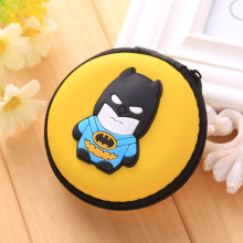 Kawaii Animals Cartoon Stitch Coin Wallets Silicone Coin Purse Key kids Boys Girls Earphone Organizer Box Bags Superman Wallet(China)