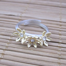 925 Sterling Silver carat secret garden three flower sunflower ring [Italy] design personality(China)