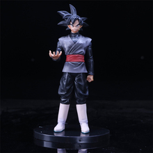 21cm Japanese anime figure Dragon Ball Super DXF The Super Warriors Son GoKu Black PVC Action Figure Model Toys(China)