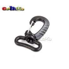10pcs Pack  Plastic Swivel Snap Hook Black for Backpack Bag Belt Strap Luggage  Webbing 25mm #FLC136-B
