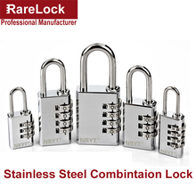 LHX Stainless Steel Padlock Door Cabinet Box Game Luggage Fitness Center Locks Code Combination Digital Password Lock a