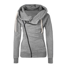 Womens Hoodies Sweatshirts Solid Color Hooded Jacket Long Sleeve Femme Hoodie Zipper Fall Winter Female Coat Outwear