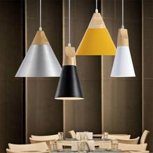 Nordic Modern Simple Pendant Lights Living Room Coffee Shop Lamps Aluminum AC85-265V White Black Grey Yellow Dinning Lighting(China)