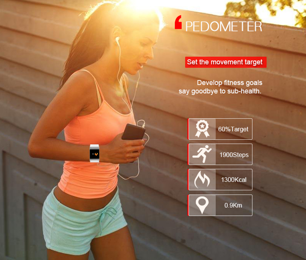 ALANTURING Bluetooth Smart wristband SW53 with Fitness Activity Tracker Sleep heart rate Blood pressure Blood Oxygen monitor