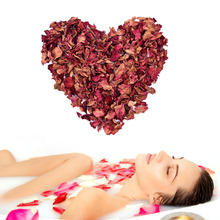 Natural Red Rose Dried Petals Buds 100% Organic Bath Soap Spa From China Yunnan Great Gift For Shower Bath(China)