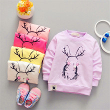 2017 spring new fashion Korean children's long-sleeved T shirt printing Taobao Wholesale Children's clothing factory direct whol