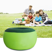 2017 New Inflatable Stool Thickening Cotton Cover Cartoon Plush Inflatable Pouf Chair Lovely Pneumatic Stools Portable*D15