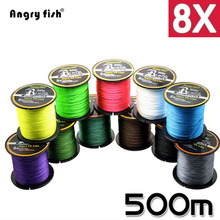 Wholesale 500 Meters 8x Braided Fishing Line 11 Colors Super PE Line
