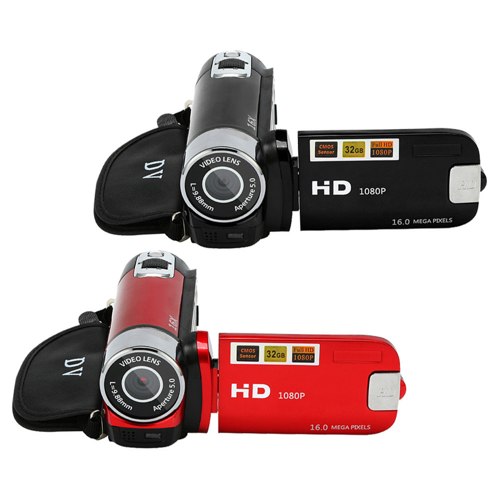 HD 1080P Digital Camera Video Camcorder HD 1080P Handheld Digital Camera 16X Digital Zoom 8