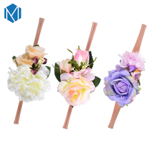 1PC New Baby Girl Flower Elastic Headband DIY Headwear Big Rose Hair Accessories For Children Kids Head Band Hairbands Gift(China)
