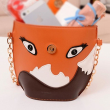 VSEN 2pcs StyleNew fashion women leather handbag cartoon bag fox shoulder bags women messenger bag Orange