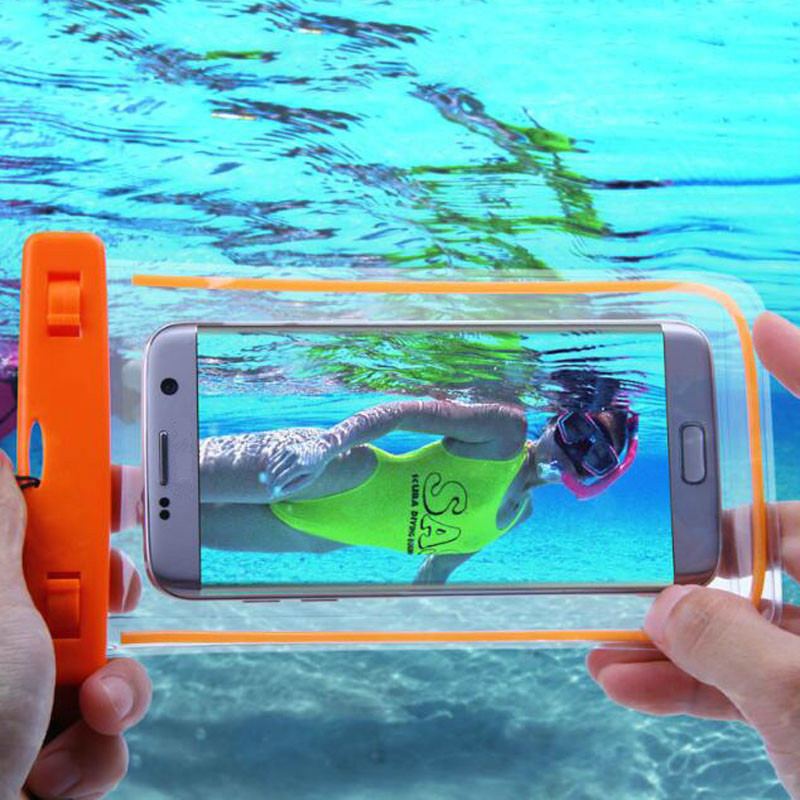 Phone Bags & Cases Waterproof Case Phone For Samsung Underwater Light Box Galaxy Note 5 4 3 2 A5 A7 J5 J7 Rear Cover For Iphone 6s 6sp For Xiaomi Be Friendly In Use Cellphones & Telecommunications
