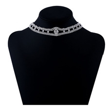 The New Hot Sale Short Silver Diamond Necklace Is A Must-Have Bridal Necklace For Women