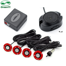 GreenYi 13mm Adjustable Depth Car Parking Assistance Flat Sensor Backup Radar Detector System Sound Alert Buzzer Rear Sensors(China)