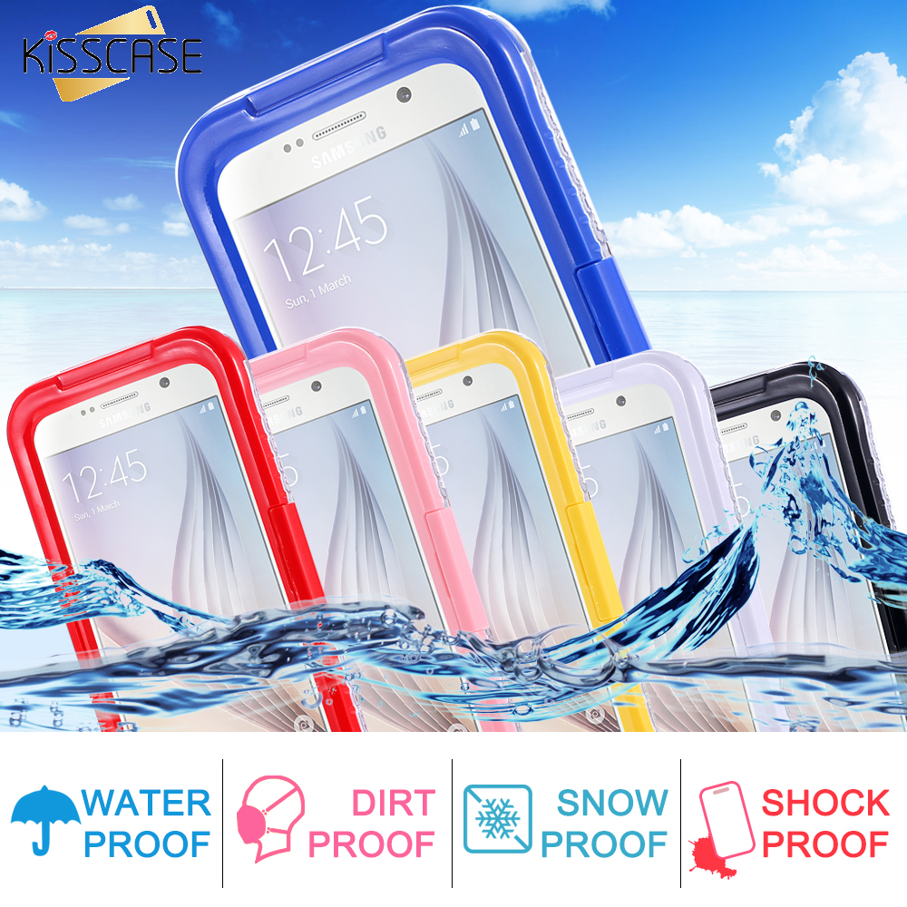 KISSCASE S7 Edge Box Waterproof Transparent Case For Samsung S3 S4 S6 Edge Plus S7 Edge Note 4 Note 5 Phone Cover Swimming Capa(China (Mainland))