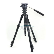 Kingjoy VT-1200 Professional Wearable Flip/Level Lock Stable Video Camera Tripod with Hydraulic Damping Head VT-1510 for Shoot(China)