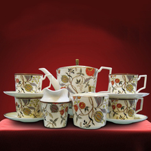 Continental Hotel Restaurant Bone China Tea Set Luxury Coffee Cup Set With Sugar Bowl Milk Pot