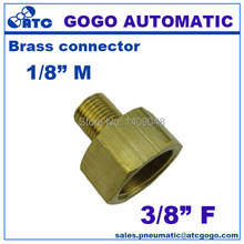 10pcs a lot GOGO Copper plumbing water conduit fitting 1/8 male to 3/8 female G thread union butt connector brass joint(China)