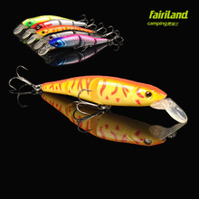 12.5cm 3 Sections MINNOW K-AW Fishing Lure Hard Bait w/ 3D Eyes and 2 Treble Hooks Imported ABS Plastic Artificial Lure bait(China)