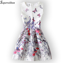 New 2017 Summer Women Dresses Print Butterfly Sleeveless Casual Dress Vestido De Festa Ladies Vintage Plus Size Women's Clothing