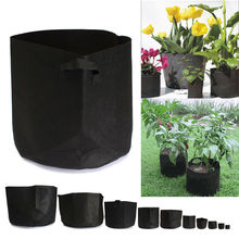 1PC Hot Sale!!!Round Grow Bags 1-15 Gallon Pots Plant Bonsai Pouch Root Container Aeration Pot Container Fabric