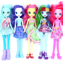 Genuine Twilight Sparkle Horse Princess fashion Silicone Vinyl Baby Doll Reborn monster fluttershy Friendship Games dolls gift(China)