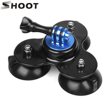 SHOOT Low Angle Surfboard Suction Cup Tripod Mount for GoPro Hero 5 6 4 3 Yi 4K SJCAM SJ5000 Eken H9 Camera Surfing Accessories(China)