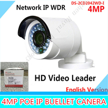 Buy English Version IP camera 4MP Bullet Security Camera POE Network camera DS-2CD2042WD-I Video Surveillance 4/6/12mm lens for $76.35 in AliExpress store