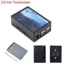 Latest Raspberry Pi 3 Model B+ 3.5 inch Touchscreen 480*320 TFT LCD  + ABS Case Black Gray Box also for Raspberry Pi 3  (China)